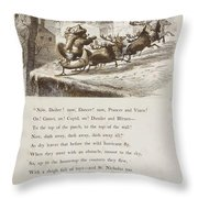 Night Before Christmas Throw Pillow by Granger
