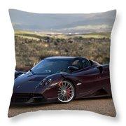 #pagani #huayra #roadster #print Throw Pillow