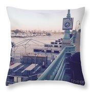 Racine Harbor Wisconsin  Throw Pillow