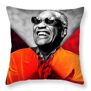 Ray Charles Collection Throw Pillow
