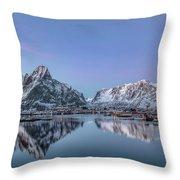 Reine, Lofoten - Norway Throw Pillow