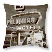 Route 66 - Tucumcari New Mexico Throw Pillow