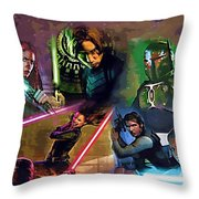 Star Wars Galaxies Art Throw Pillow