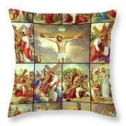 14 Stations Of The Cross Throw Pillow