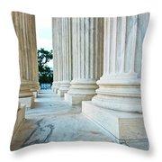 Supreme Court Building Washington Dc Throw Pillow