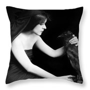 Theda Bara (1885-1955) Throw Pillow by Granger