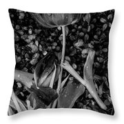 Tulips Wilting Throw Pillow