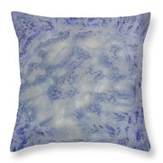 14. V1 Blue And White Splash Glaze Painting Throw Pillow