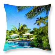 Nature Landscape Oil Painting For Sale Throw Pillow