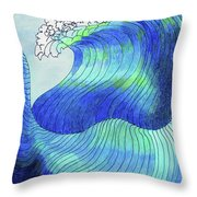 141 - Waves Throw Pillow