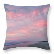 Pretty In Pink Throw Pillow by LeeAnn Kendall
