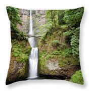 1417 Multnomah Falls Throw Pillow