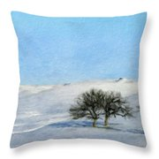 Landscape Oil Painting Nature Throw Pillow