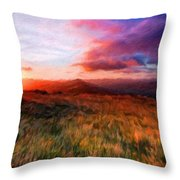 Landscape Paintings Nature Throw Pillow