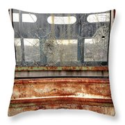 1449 Illinois Trolley Museum Throw Pillow