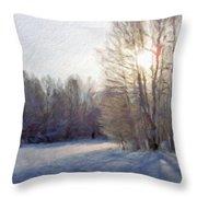 Art Landscape Nature  Throw Pillow