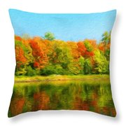 Landscape Drawing Nature Throw Pillow