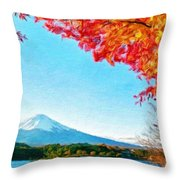 Nature Landscape Illumination Throw Pillow