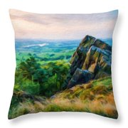 Nature Landscape Oil Throw Pillow