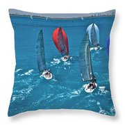 Miami Regatta Throw Pillow