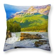 Nature Landscape Oil Throw Pillow