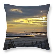 14th Street Fishing Pier Bright Throw Pillow