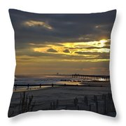 14th Street Fishing Pier Throw Pillow