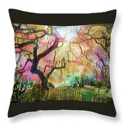 15 Abstract Japanese Maple Tree Throw Pillow