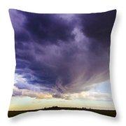 Afternoon Nebraska Thunderstorm Throw Pillow