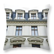 Apartment Building Throw Pillow
