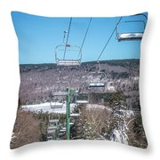 Beautiful Nature And Scenery Around Snowshoe Ski Resort In Cass  Throw Pillow
