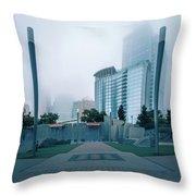 Charlotte North Carolina City Skyline And Downtown Throw Pillow