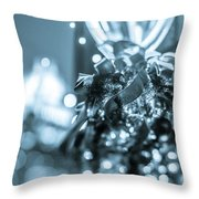 Christmas Lights Holiday Decorations Around Charlotte North Caro Throw Pillow