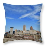 Cleveland Skyline Throw Pillow