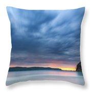 Cloudy Sunrise Seascape Throw Pillow