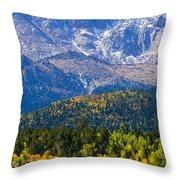 Crystal Creek Autumn Throw Pillow