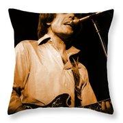 #15 Enhanced In Amber Throw Pillow