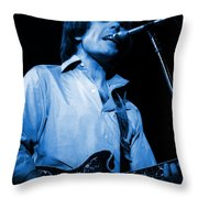#15 Enhanced In Blue Throw Pillow