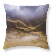 First Nebraska Storm Chase 2015 Throw Pillow