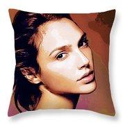 Gal Gadot Print Throw Pillow