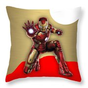 Iron Man Collection Throw Pillow