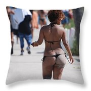 L W Thong Throw Pillow