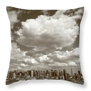 New York City Skyline Throw Pillow