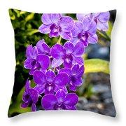 Orchids Kauai Throw Pillow