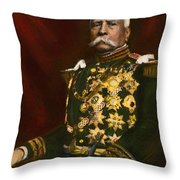 Porfirio Diaz, 1830-1915 Throw Pillow