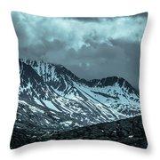 Rocky Mountains Nature Scenes On Alaska British Columbia Border Throw Pillow