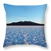 Salar De Uyuni, Bolivia Throw Pillow