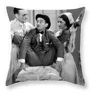 Silent Film Still: Doctor Throw Pillow