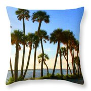 Sunrise / Sunset / Indian River Throw Pillow