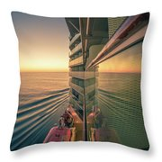 Sunset Over Alaska Fjords On A Cruise Trip Near Ketchikan Throw Pillow